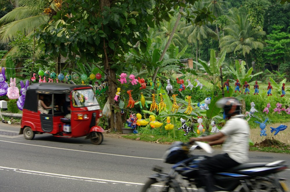 Red tuktuk