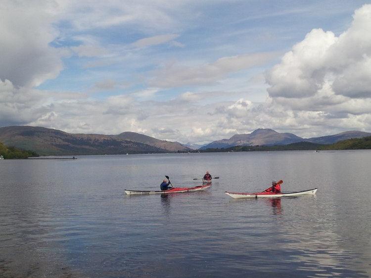 Kayakers on Loch Lomond