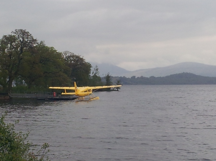 Seaplane on Loch Lomond