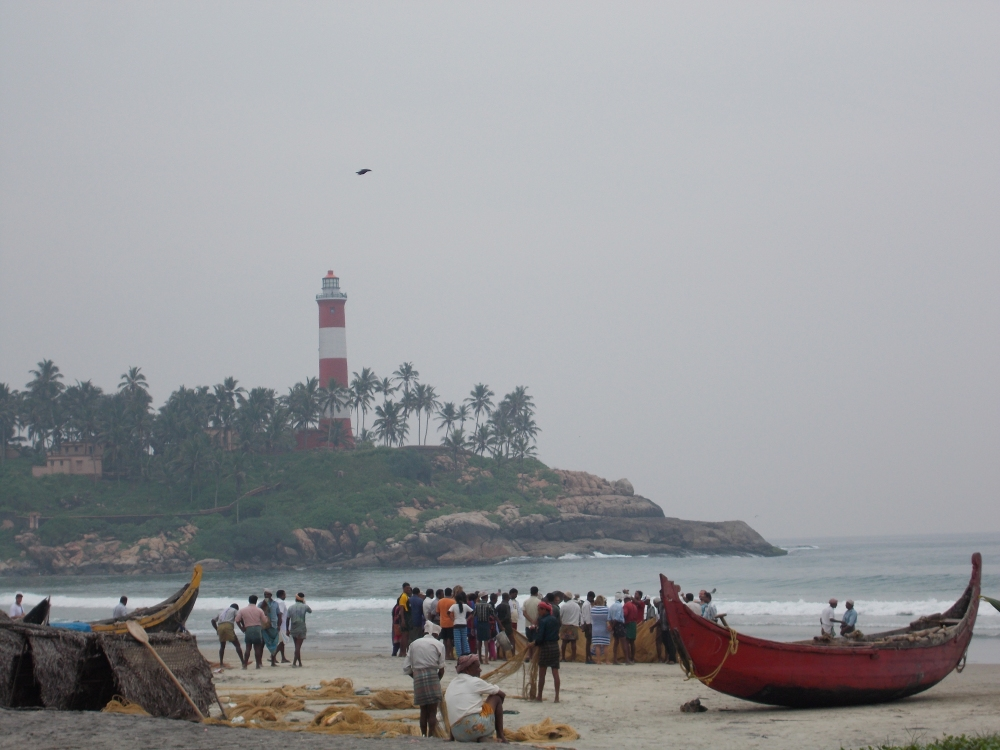 Fishermen on Kerala beach