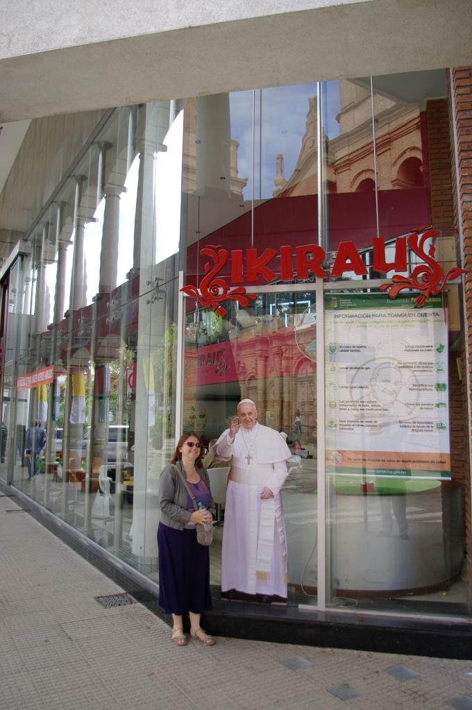 Sticker Pope in Santa Cruz