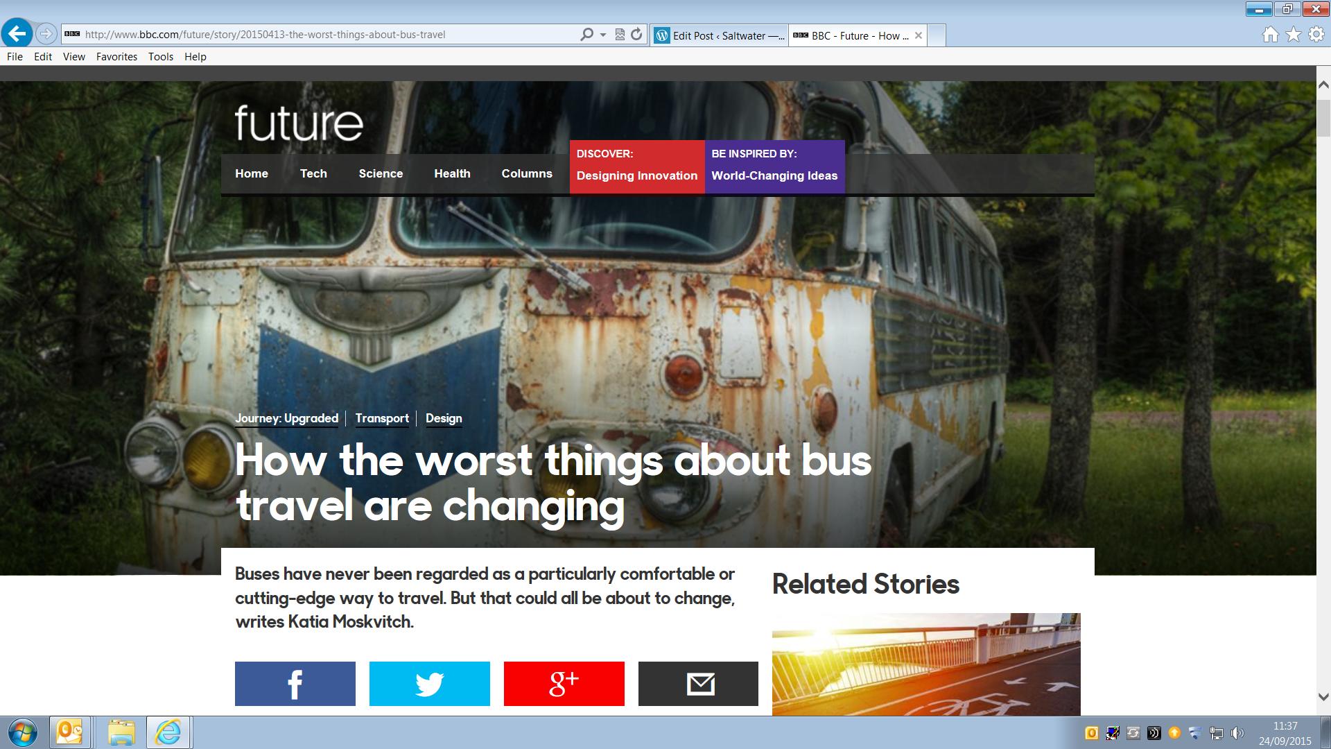 BBC Future article