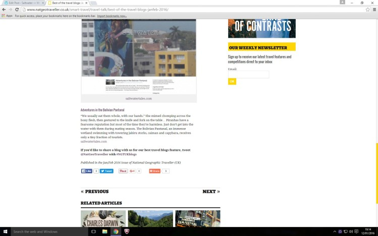 National Geographic Traveller feature