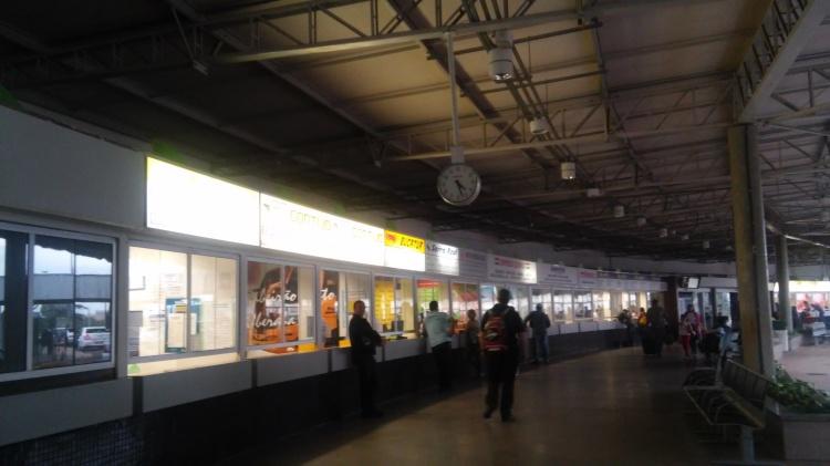 Brazilian bus station