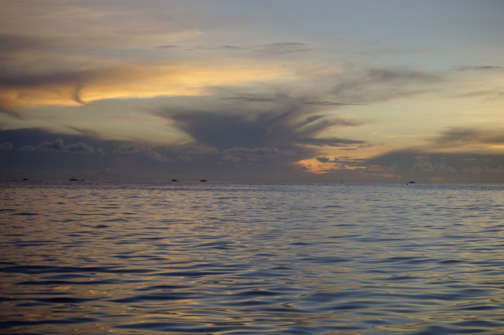 Sunrise in the Lembeh Straits